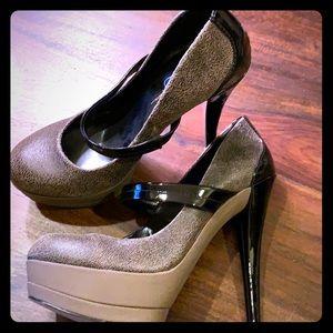 Jessica Simpson Black Cheetah Stiletto Shoes